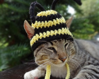 Bee Hat for Cats, Bee Cat Hat, Bumble Bee Cat Costume, Bee Costume, Bumblebee Cat Hat, Bumble Bee Hat for Cats