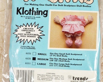 Doll Clothes Kit, Trends 6131, Kidskins Klothing, Size Medium Outfit, 3-oz