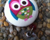 Adorable Owl Retractable ID Badge Reel Holder