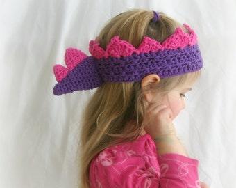 Custom Dinosaur Crown, Crochet Dino Birthday Crown, Stegosaurus Crochet Crown,  Made to Order