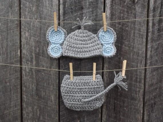 Crochet Elephant Hat Pattern Elephant Set Crocheted Hat