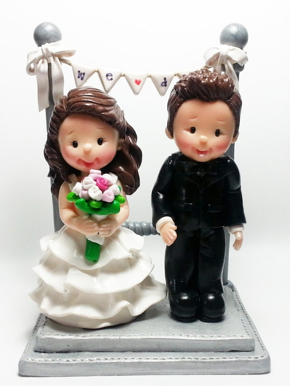 clay wedding cake toppers items similar to we do polymer clay wedding cake topper 12879