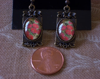 Floral romantic earrings