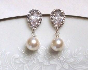 Bridesmaid Jewelry - Set of 3 - Crystal Earrings - Gift Card - Bridesmaid Gift - Wedding Earrings