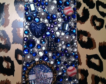 Los Angeles Dodgers Deluxe bling phone case