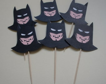 Superhero Cupcake Picks