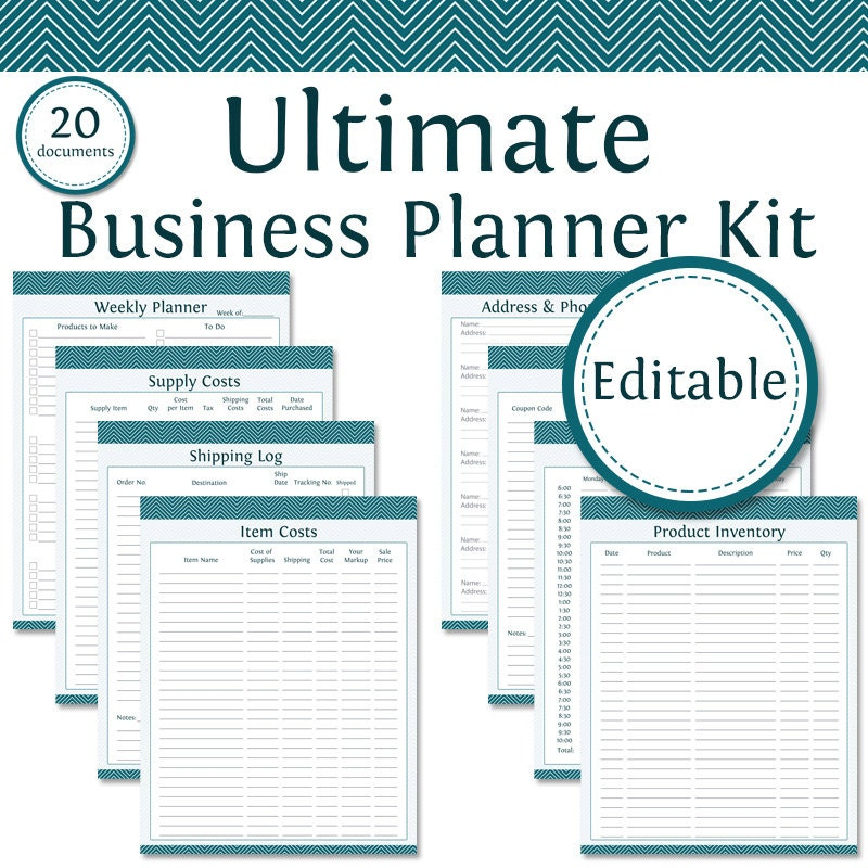 Ultimate Business Planner Kit Fillable Business Planner
