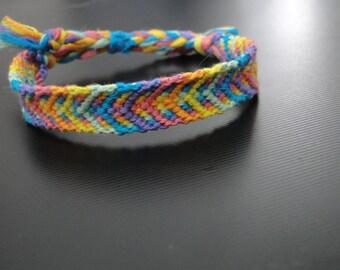 Rainbow Road // colorful bright arrow chevron friendship bracelet