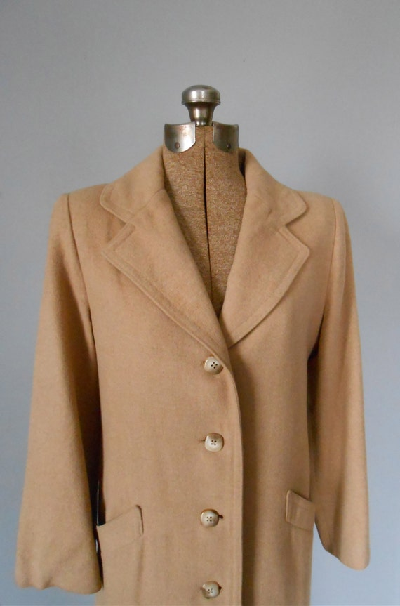 60s Camel Hair Tan Coat From Jacobsons Vintage Womens