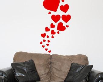 Valentine Hearts Vinyl Stickers
