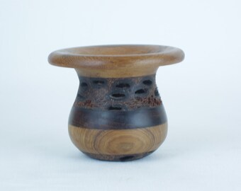 Exotic Wood Vase - Hand Turned Banksia Pod Vase