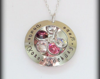 Hand Stamped Mommy Locket- Locket Necklace- Mom Locket- See Through Locket- Grandma Jewelry- Mother's Day Gift