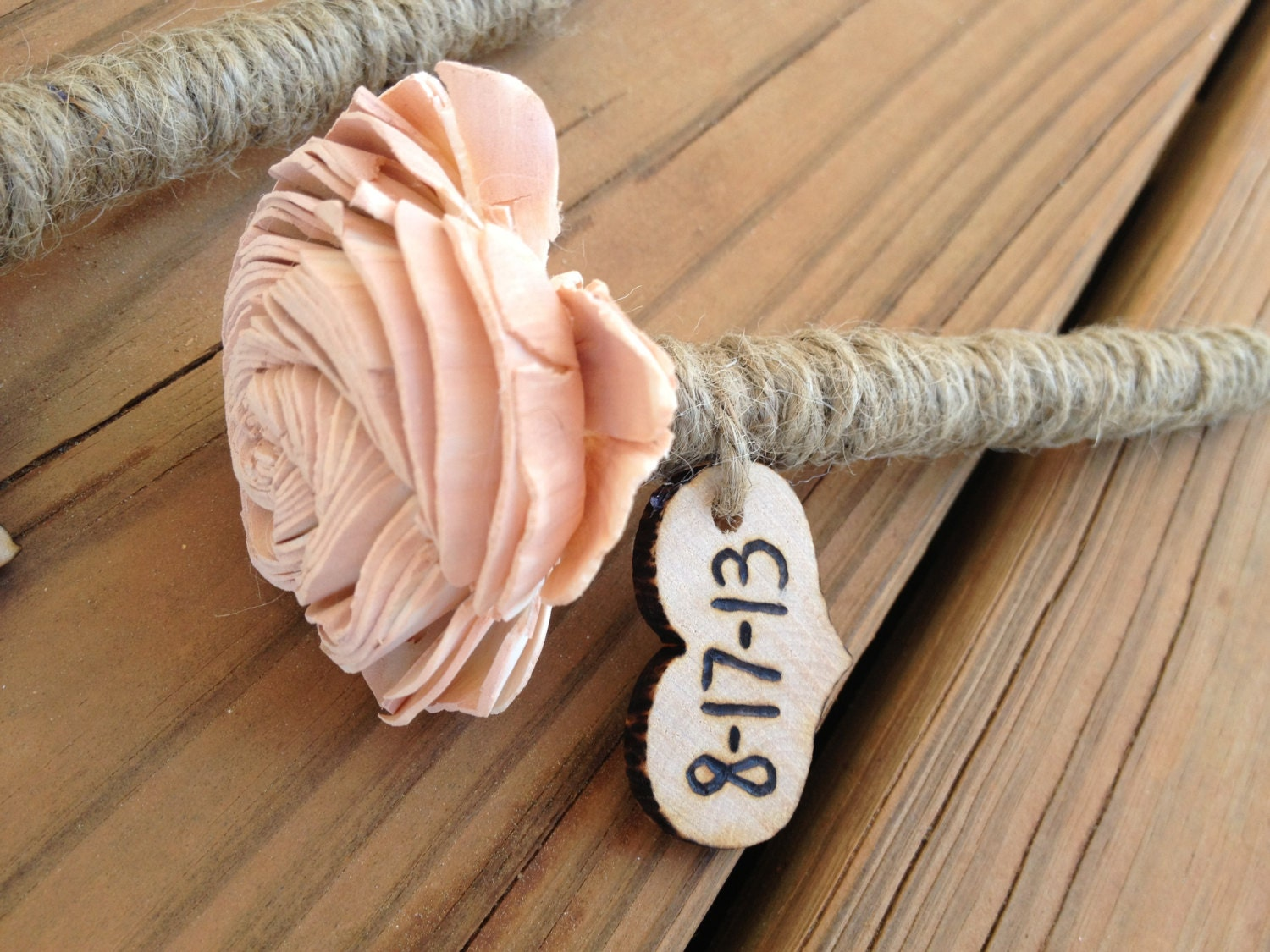 Personalized Wedding Guestbook Pen Rustic Wedding Shabby