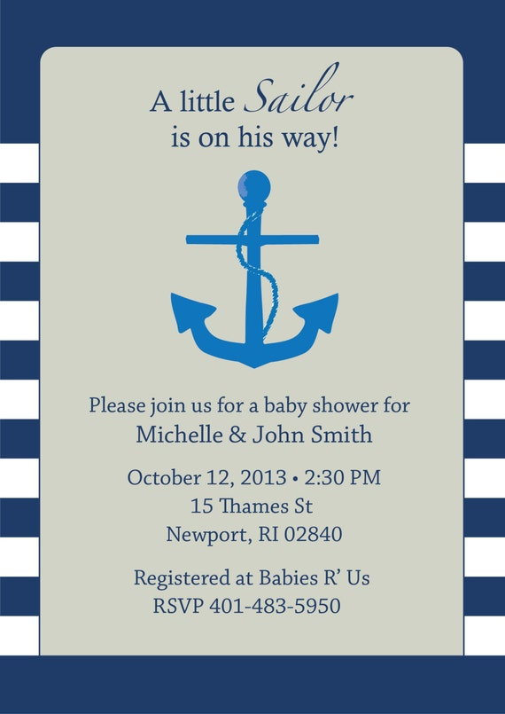Sailor Baby Shower Invitation is nice invitations layout