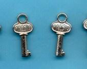 5 Tiny Skeleton Keys - Presto - - - - Assemblage, Mixed Media, Pendant