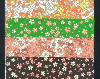 Japanese Flower Origami Paper - 4 Different Patterns - Collage, Arts and Crafts, Tea Bag Folding