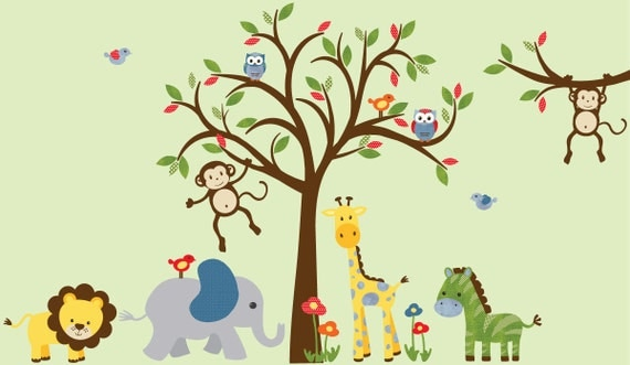 Boy Room Wall Decal Kids Room Wall Decal Safari Wall Decal