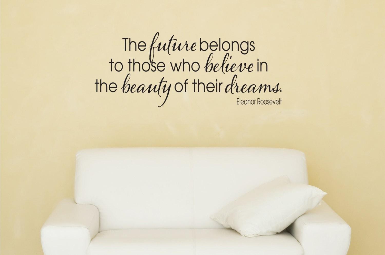 eleanor roosevelt quote wall decal vinyl by davisvinyldesigns