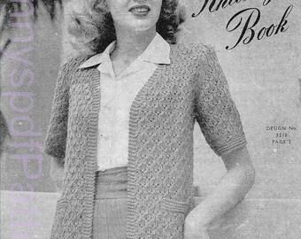 1940s Ladies Knitting Patterns - PDF Copy of Sun-glo Knitting Booklet Series 83