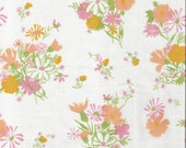 Vintage Sheet Fabric, Vintage Fabric, Vintage Floral Fabric, Vintage Sheets, Shabby Chic, Reclaimed Fabric, PMD1