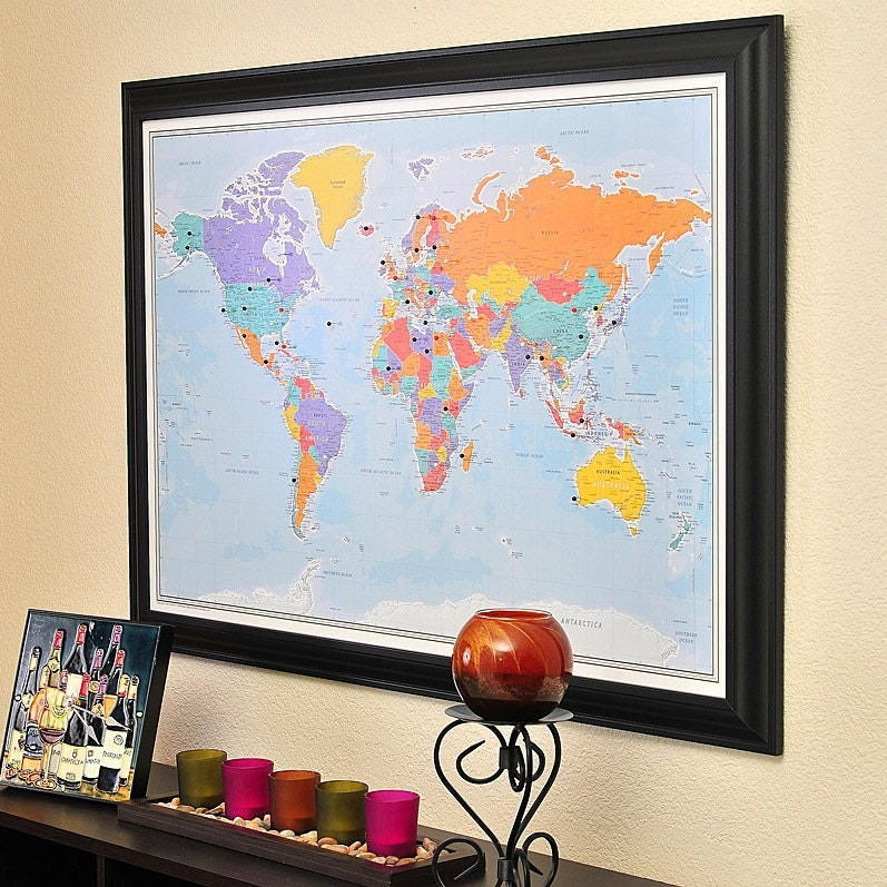 framed world maps with push pins with Personalized World Travel Map With Pins on Arizona Topographic Map furthermore Idaho Topographic Map besides North Carolina Topographic Map further World Executive Wall Map Enlarged And Laminated additionally South Florida Satellite Map.