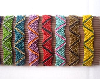 Various Color Macrame Surf Bracelet Handmade
