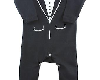 Baby Tuxedo Romper Suit