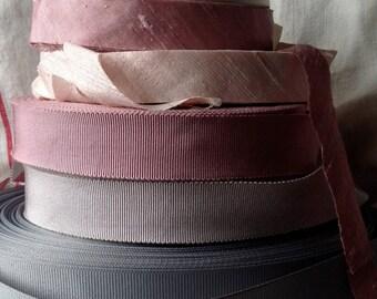 roll of blush pink dupioni silk