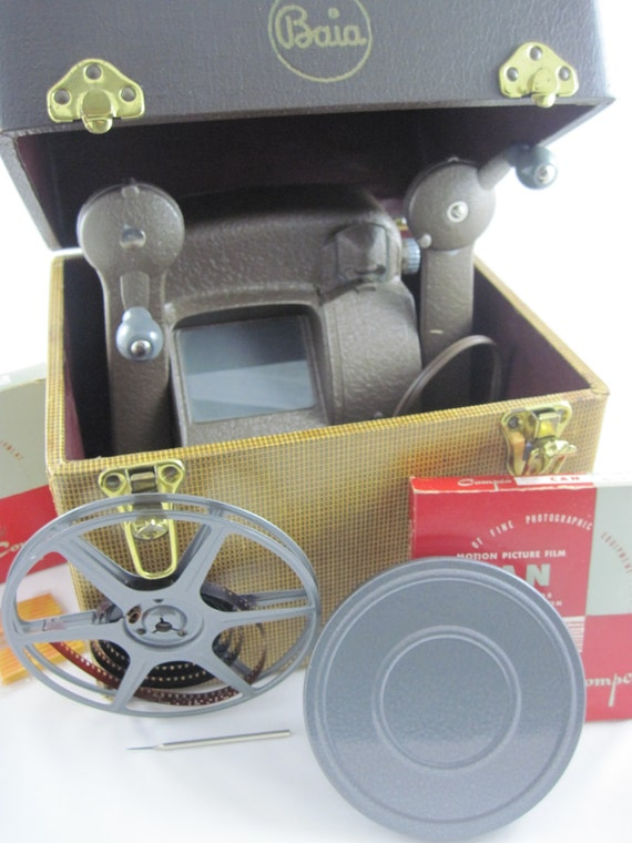 16mm Reel Movie Projectors: Vintage Baia 16mm Viewer With Splicer Two Compco By RubyMeows