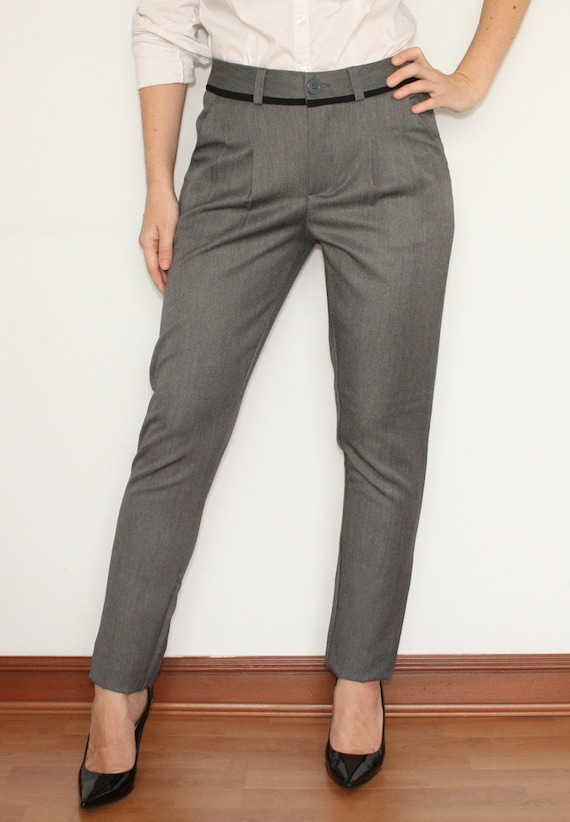 Original Pants Ladies Trousers In Light Grey For Women Office Fashion  Women