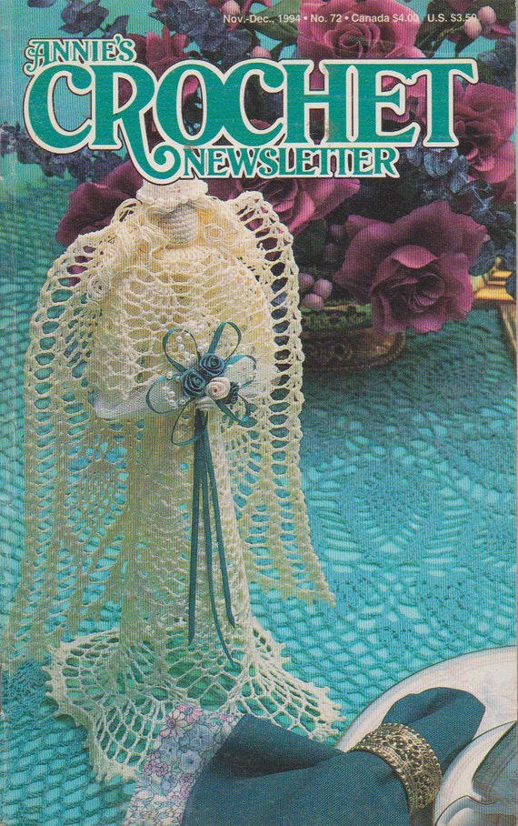 Annies Crochet Newsletter - Nov - Dec 1994 - No 72 - Vintage Crochet ...