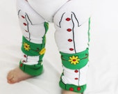 Lederhosen, German baby Leg Warmers, Octoberfest, Halloween Costume