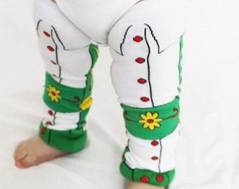 Lederhosen, German baby Leg Warmers, Octoberfest, Halloween Costume