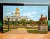Vintage Postcard, State Capitol, Denver, Colorado Paper Ephemera