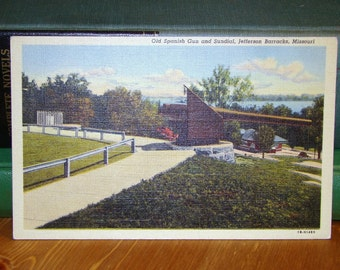 Vintage Postcard, Jefferson Barracks, Missouri, 1940s Linen Paper Ephemera