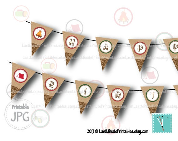items similar to campout party  campfire  camp printable