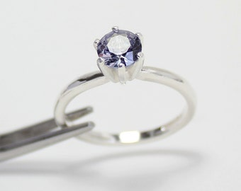 color changing alexandrite engagement ring sterling silver lab alexandrite sterling silver ring - Alexandrite Wedding Ring