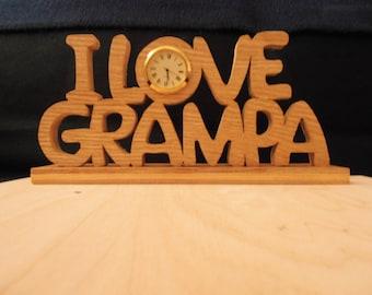 I Love Grampa Clock