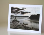 British Columbia Photo Card, Framable Gift, Vancouver Island Photography Card, Canada Landscape Print