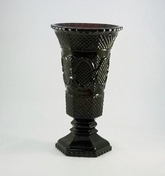 Vintage Avon Cape Cod Vase Vase Pressed Glass By