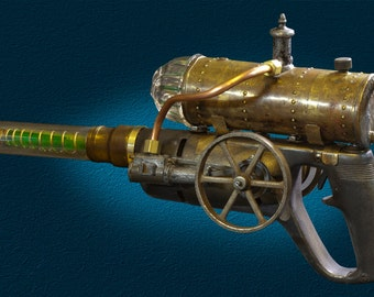 Steampunk Raygun. Executive gift. Steampunk weapon, Steampunk invention. A one of a kind gun made from found objects.