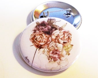 Flower illustration badge