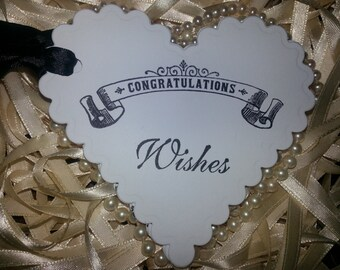 50  WEDDING WISH TAGS  Congratulations Wishes