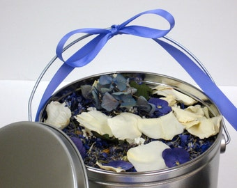 BRIDAL LAVENDER™ Flower Confetti, Wedding Pail, Something Blue, eco friendly, wedding petals & herbs, for fairy tale endings