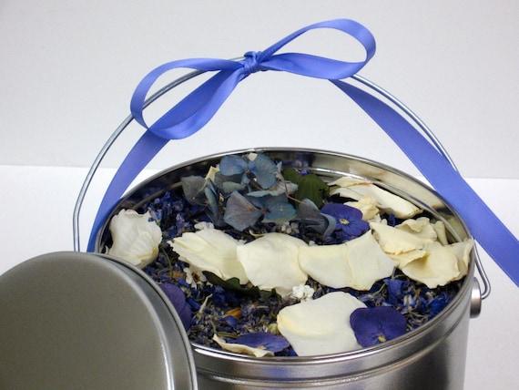 BRIDAL LAVENDER™ Flower Confetti, Wedding Pail, Something Blue, eco friendly, wedding petals & herbs, for fairy tale endings