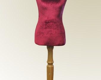 Velvet COVER for Mannequin bust torso dress form