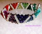Swarovski Crystal Gem Bracelet 3 Strand Absolutely Beautiful
