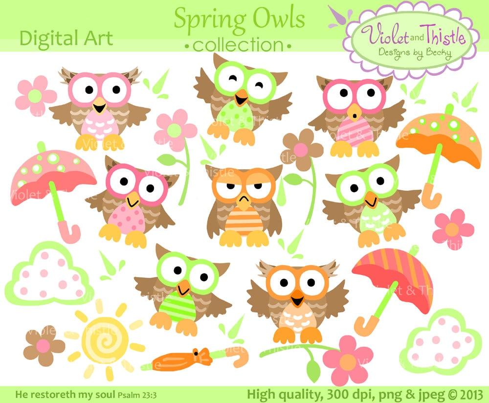 Owl clip art Spring Owl Digital Clip Art Owls Clipart Cute Owl