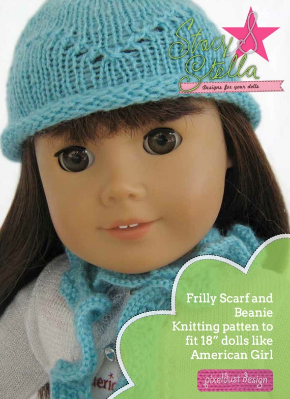Knitting Pattern For Scarf And Beanie : Pixie Faire Stacy and Stella Knit Beanie and Scarf Doll