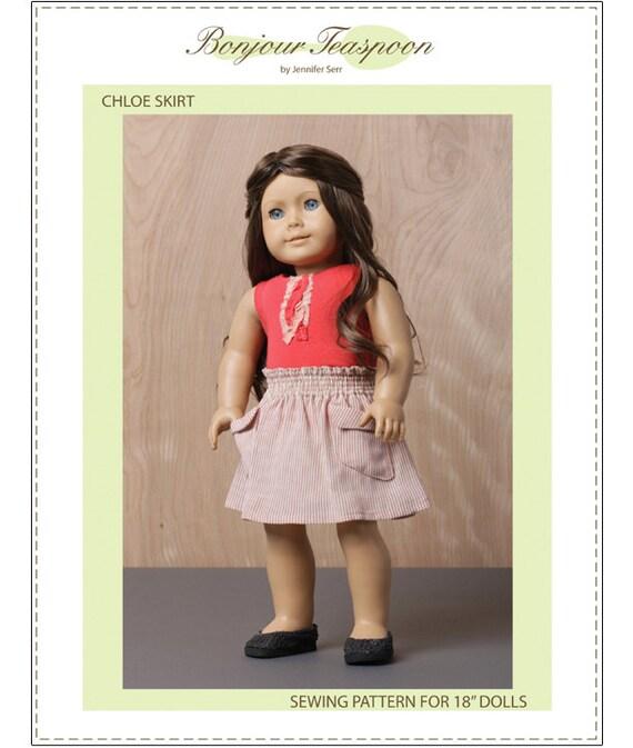 Pixie Faire Bonjour Teaspoon Chloe Skirt Doll Clothes Pattern